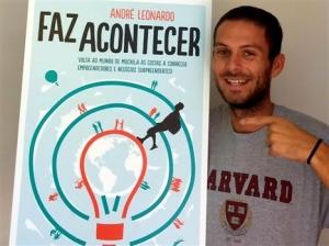 """Lançamento do livro """" Faz acontecer"""" de André Leonardo em Ponta Delgada"""