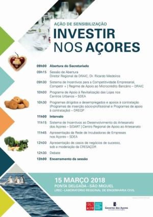 """Ação de Sensibilização """"Investir nos Açores"""""""